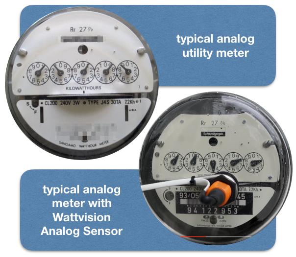 Analog Electric Meter : Wattvision sensor